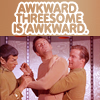 awkward threesome