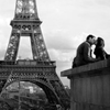 Kissing Eiffel Tower
