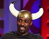 Idris in Viking hat