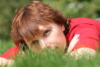 in grass