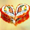 Jessica K Malfoy: food: heart sushi