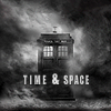 DW - TARDIS Time & Space B&W