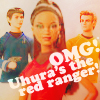 OMG! Uhura's the Red Ranger!