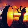 Jessica K Malfoy: pretty: hawaiian drummer