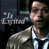 D: SPN: Castiel is excited