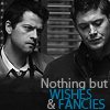 Dean/Cas wishes & fancies B/W