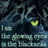 i am the glowing eyes in the blackness