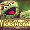 sesame street - oscar's fucking trashcan