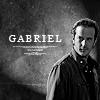 Menel: SPN - Gabriel (B&W)