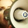 wrldpossibility: Glee Sue megaphone