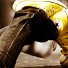 chucks thought in yellow