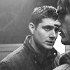 b&w Dean watching Sam