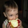 с яблоком