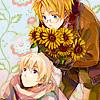 Al bringing sunflowers to Vanya