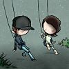 misc.-cute girl and boy swings