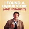 Becky: spn - castiel drank a packie store