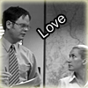 dwight/angela b&w - the office