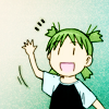 it's weird to have a vibrating cat on your head: {yotsuba&!} hihi