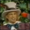 The Mad Hatter winking