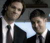 bornof_sorrow: Sam and Dean smiling