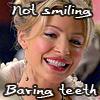 Victoria Melana: baring teeth