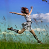 лето, прыжки, мультик
