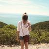 girl on cliff