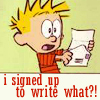 C I signed up to write what?