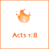 Holy Spirit, Acts 1, flame