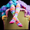 striped stockings petticoats