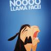 bad llama, llama face
