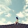Moongirl: Stock On Roof Girl.