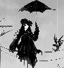 ведьма с зонтиком