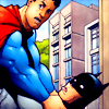 [DC] Superman strangling Batman