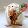 [animals] rat with balloons!