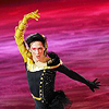 See you later, instigator: Johnny Weir - black and gold