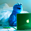 Linsey: Cookie Monster: laptop