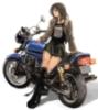 chick, biker