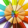 Mrs Leary: pencils rainbow circle