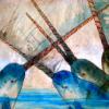 narwhals; violent aquatic courtship.