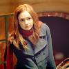 evie: amy pond blue coat looking