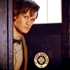 looking: peeking out of TARDIS
