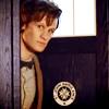 looking: peeking out of TARDIS