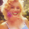 marilyn smile and flower