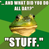 """macro - frog """"stuff"""""""
