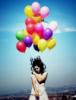 balloons, girl
