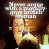adelle: morally grey british woman