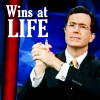 One Free BiTch: [The Colbert Report] Colbert: I win
