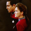voyager; We're Starfleet officers. Weird