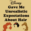 etc // disney // unrealistic hair